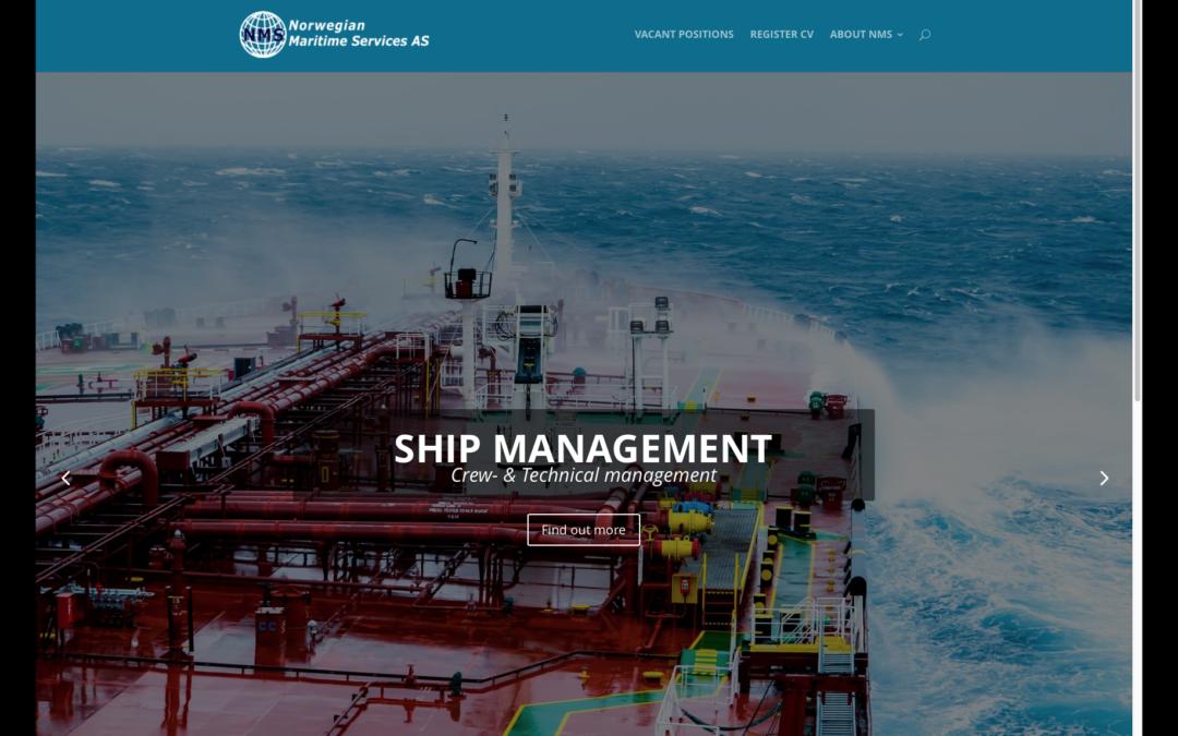 Nettsider til Norwegian Maritime Services